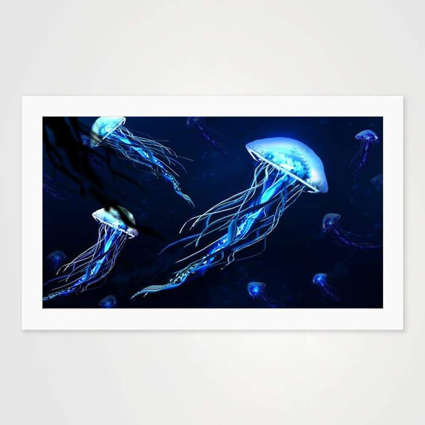 Jelly Fish - Nature Inspired Art Print For Your Wall-Art Prints-GetArt