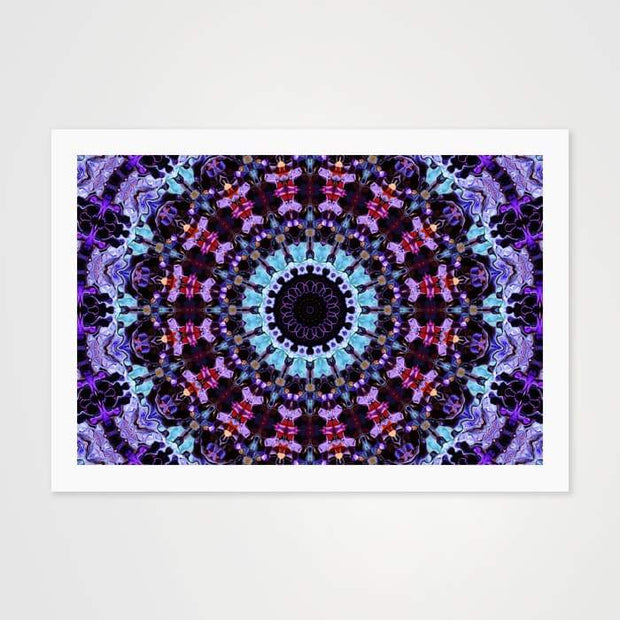 Shades of Blue Kaleidoscope - High Quality Art Pattern For Your Wall-Art Prints-GetArt