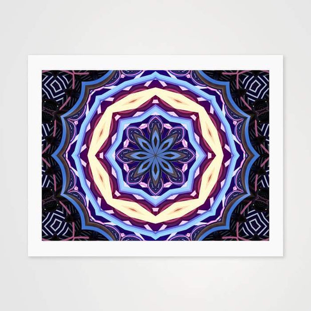 Hypnotic Blues - High Quality Art Pattern For Your Wall-Art Prints-GetArt