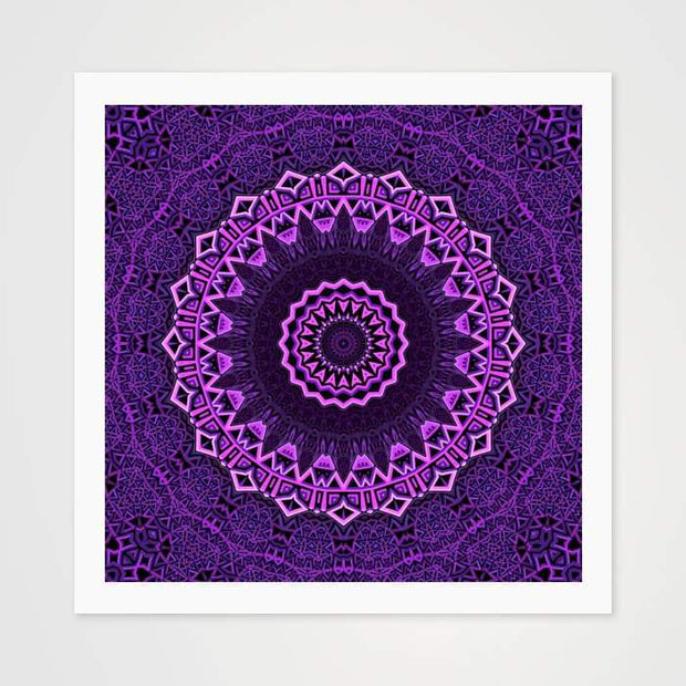The Violet Mandala - High Quality Art Pattern For Your Wall-Art Prints-GetArt