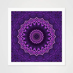 The Violet Mandala - High Quality Art Pattern For Your Wall