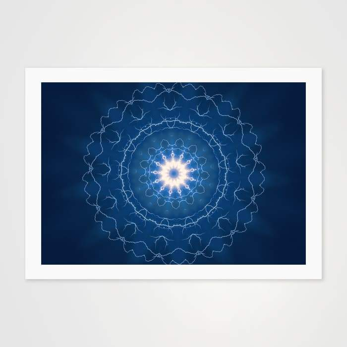 Cobalt Blue Mandala - High Quality Art Pattern For Your Wall-Art Prints-GetArt