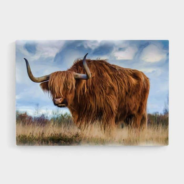 Mr Longhorn - Nature Inspired High Quality Stretched Canvas For Your Wall