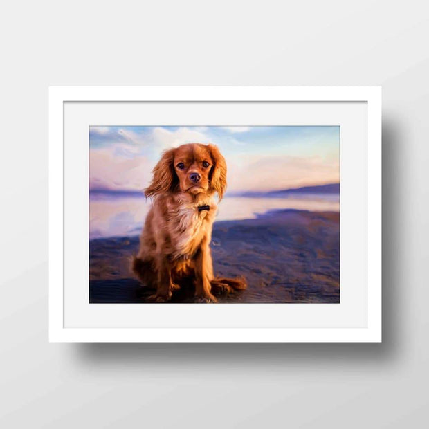 Colors of Cavalier King Charles Spaniels - Nature Inspired Framed Mounted Art Print For Your Wall
