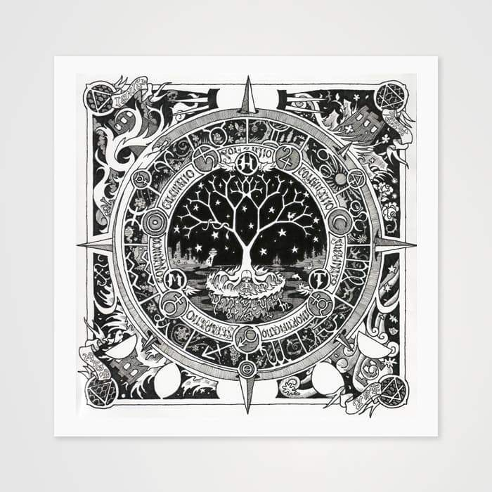 The Moon Tree- High Quality Psychedelic Art Print For Your Wall