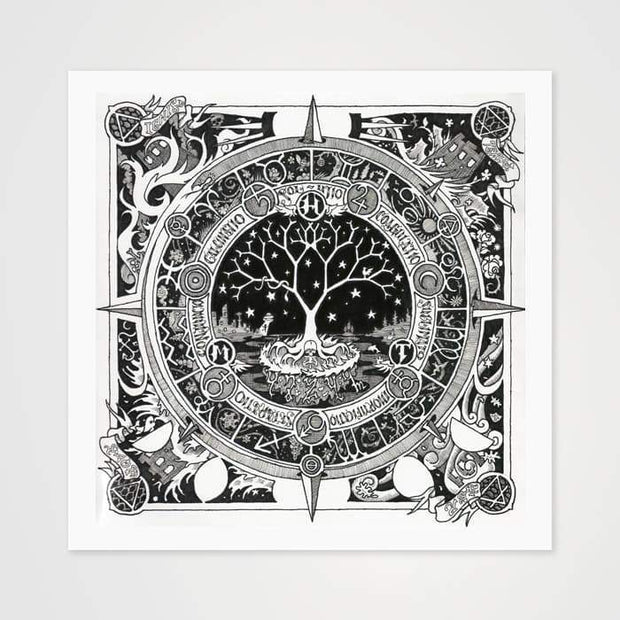 The Moon Tree- High Quality Psychedelic Art Print For Your Wall-Art Prints-GetArt