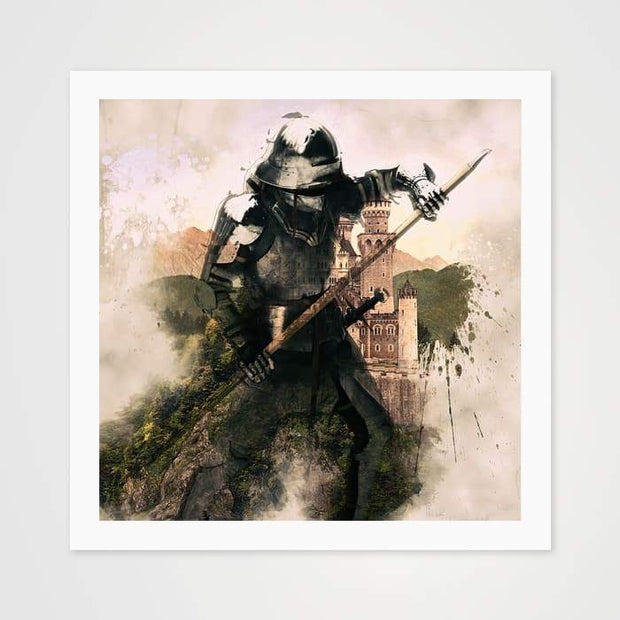The Medieval Warrior- High Quality Fantasy Art For Your Wall-Art Prints-GetArt