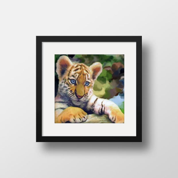 Little Kitten - Nature Inspired Framed Mounted Art Print For Your Wall