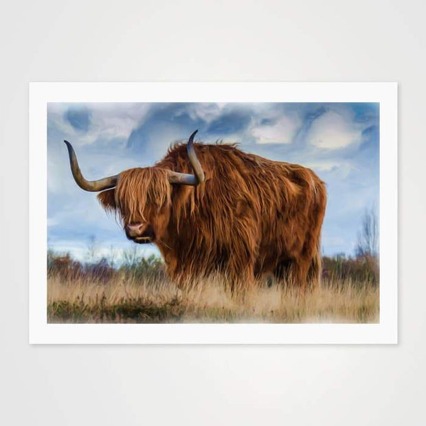 Mr Longhorn - Nature Inspired Art Print For Your Wall-Art Prints-GetArt