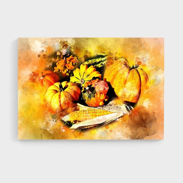 The Autumn Pumpkin - High Quality High Quality Stretched Canvas For Your Wall