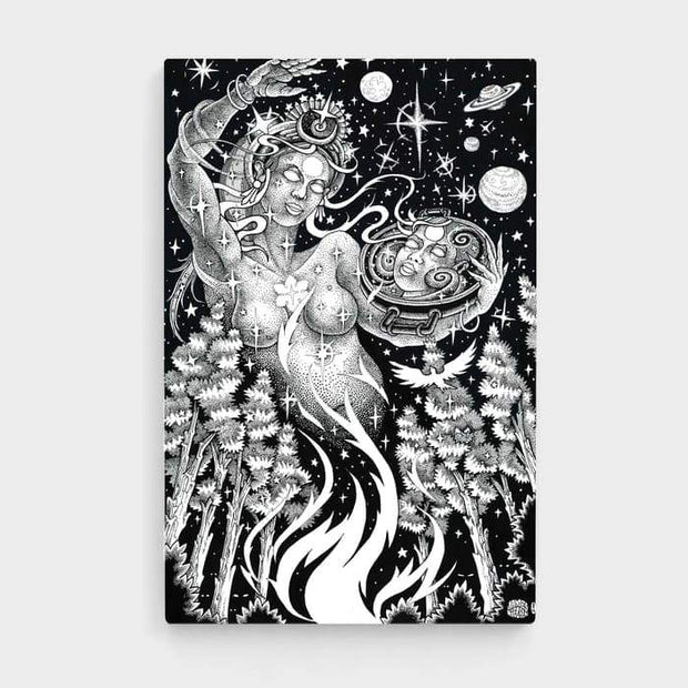 Coming From Life- High Quality Psychedelic High Quality Stretched Canvas For Your Wall
