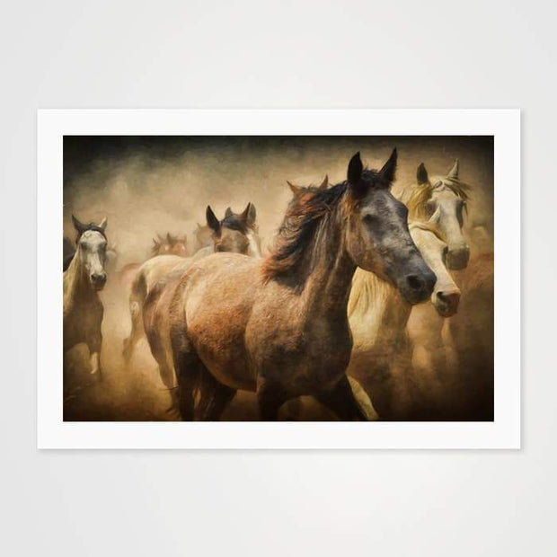 Wild Horses - Nature Inspired Art Print For Your Wall-Art Prints-GetArt