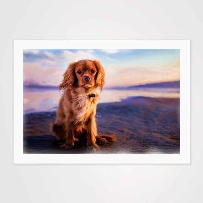 Colors of Cavalier King Charles Spaniels - Nature Inspired Art Print For Your Wall-Art Prints-GetArt