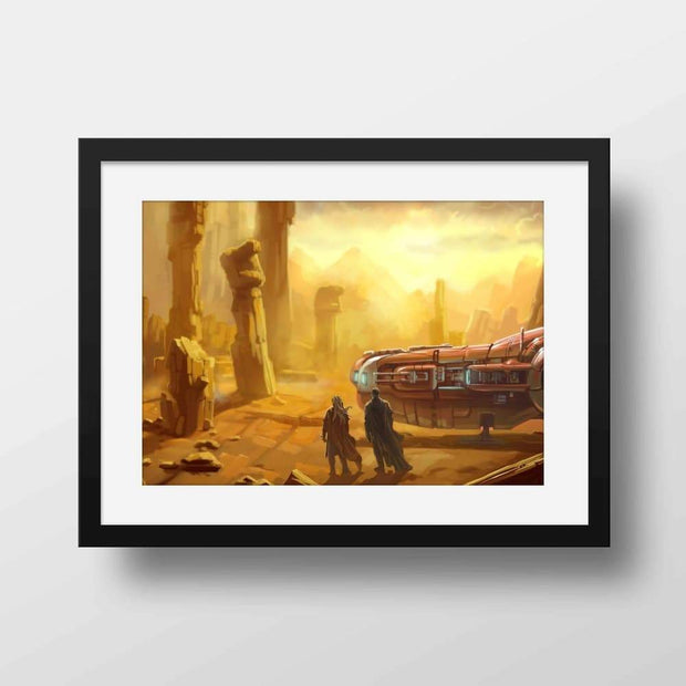 Apocalyptic Desert- High Quality Fantasy Framed Mounted Art For Your Wall