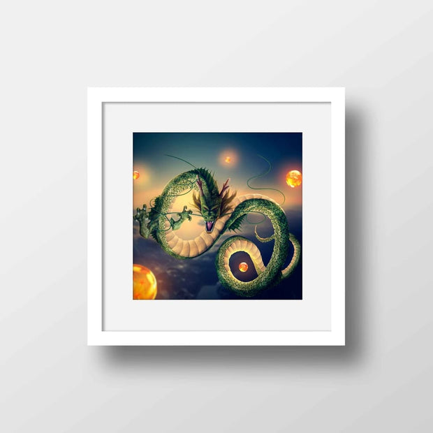 Shenron The Dragon - High Quality Dragon Ball Z Anime  Framed Mounted Art For Your Wall