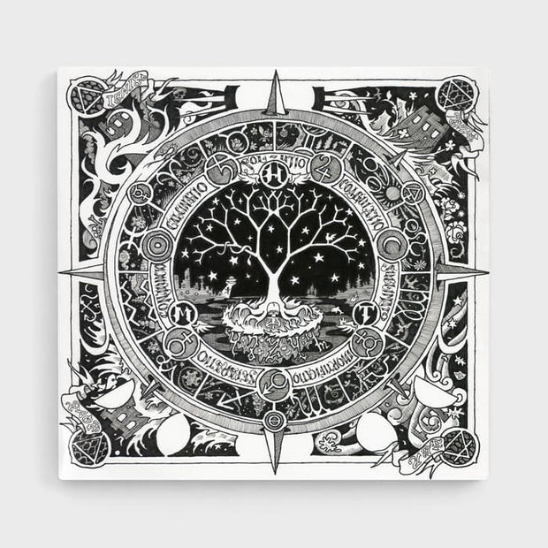 The Moon Tree- High Quality Psychedelic High Quality Stretched Canvas For Your Wall