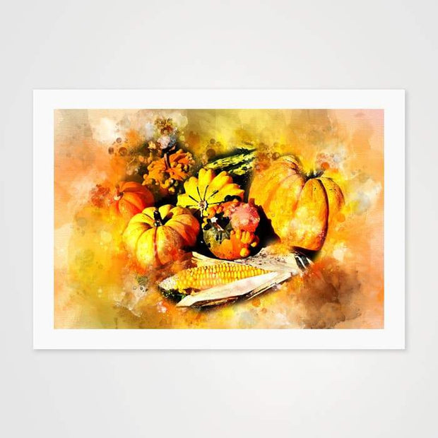The Autumn Pumpkin - High Quality Art Print For Your Wall-Art Prints-GetArt