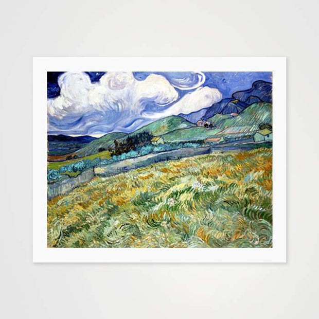 Landscape from Saint-Rémy by Vincent Van Gogh - High Quality Art Print For Your Wall-Art Prints-GetArt