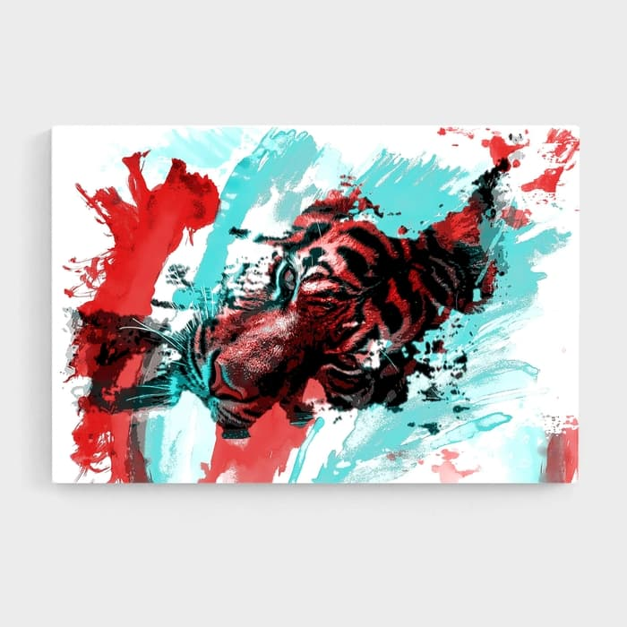 The Splatter - Nature Inspired High Quality Stretched Canvas For Your Wall