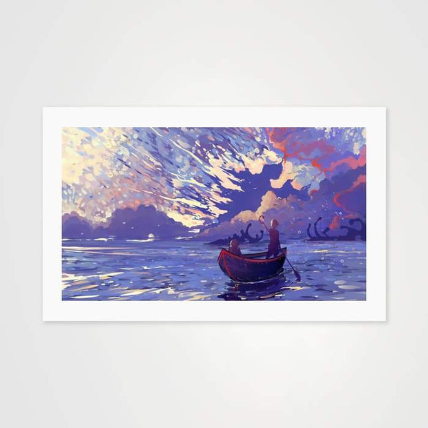 Sea Sky- High Quality Fantasy Art For Your Wall-Art Prints-GetArt
