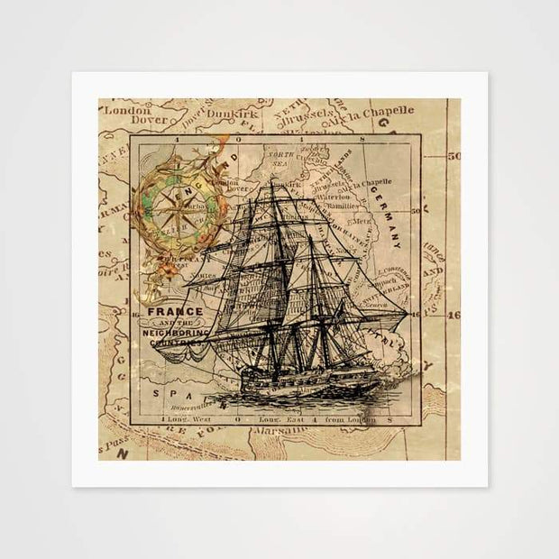 The Nautical Compass - High Quality Vintage Art For Your Wall-Art Prints-GetArt