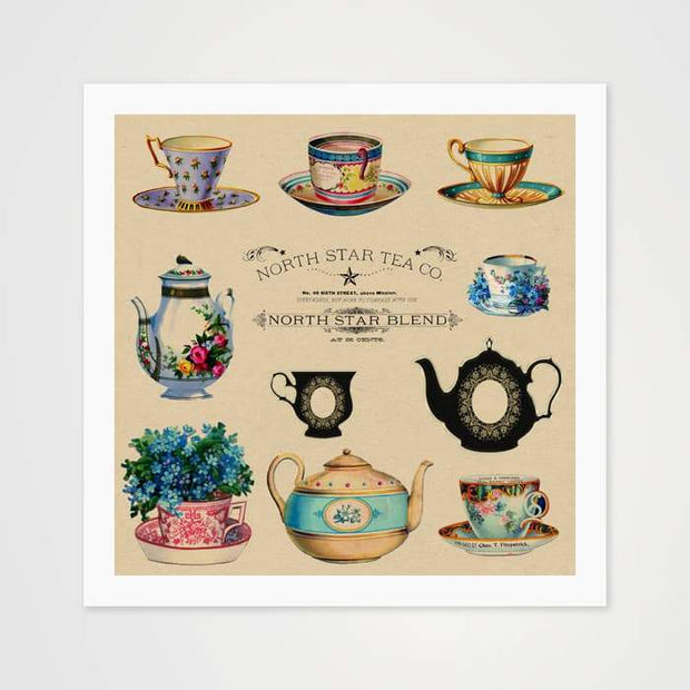 The North Star Tea Co. - High Quality Vintage Art For Your Wall-Art Prints-GetArt