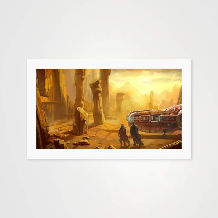 Apocalyptic Desert- High Quality Fantasy Art For Your Wall-Art Prints-GetArt