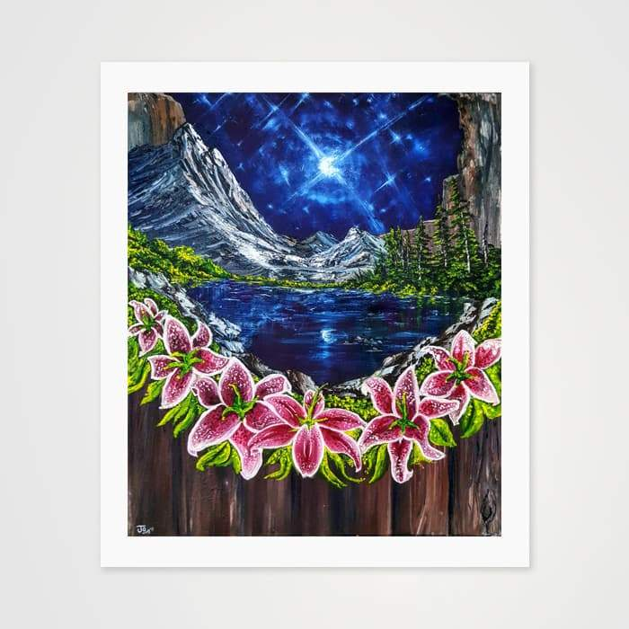 The Moonlake - Nature Inspired Art Print For Your Wall