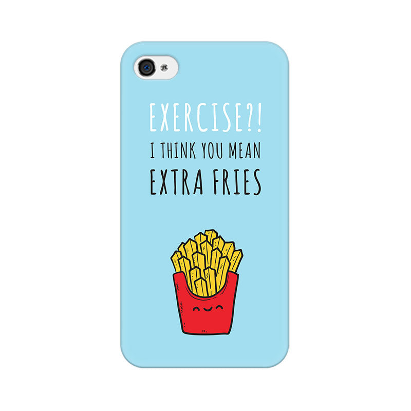 Apple iPhone 4 Extra Fries Phone Cover & Case