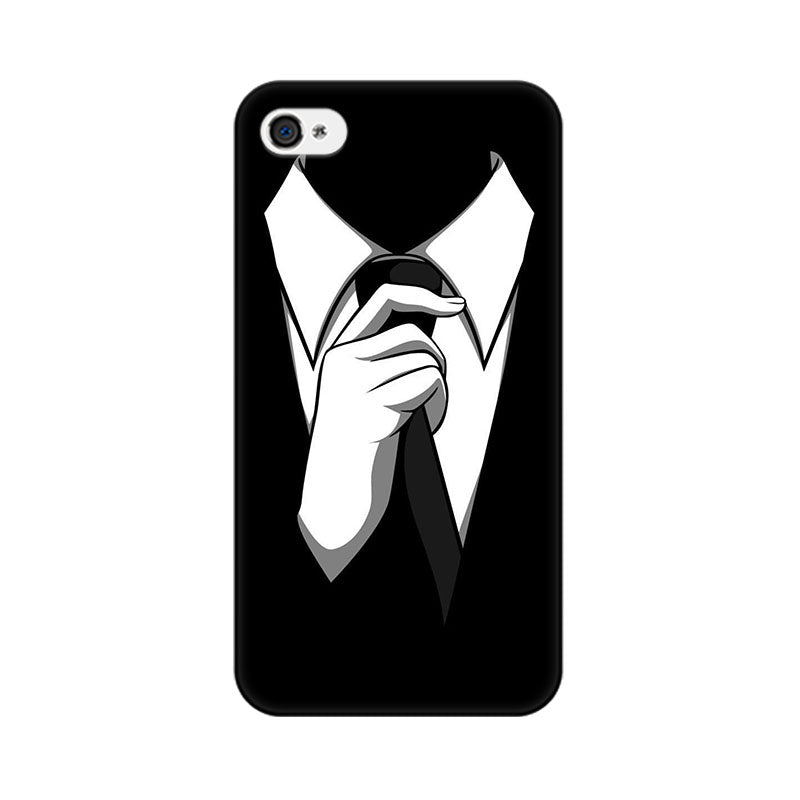 Apple iPhone 4 Black Tie Phone Cover & Case
