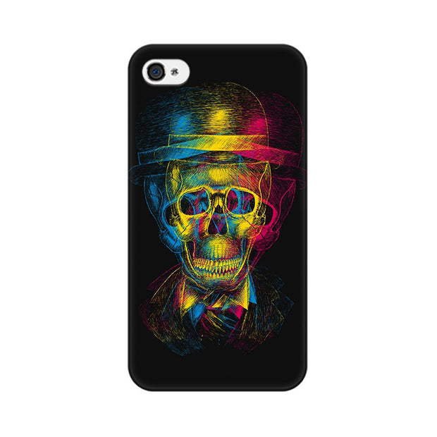 Apple iPhone 4 Skull Anaglyph Phone Cover & Case