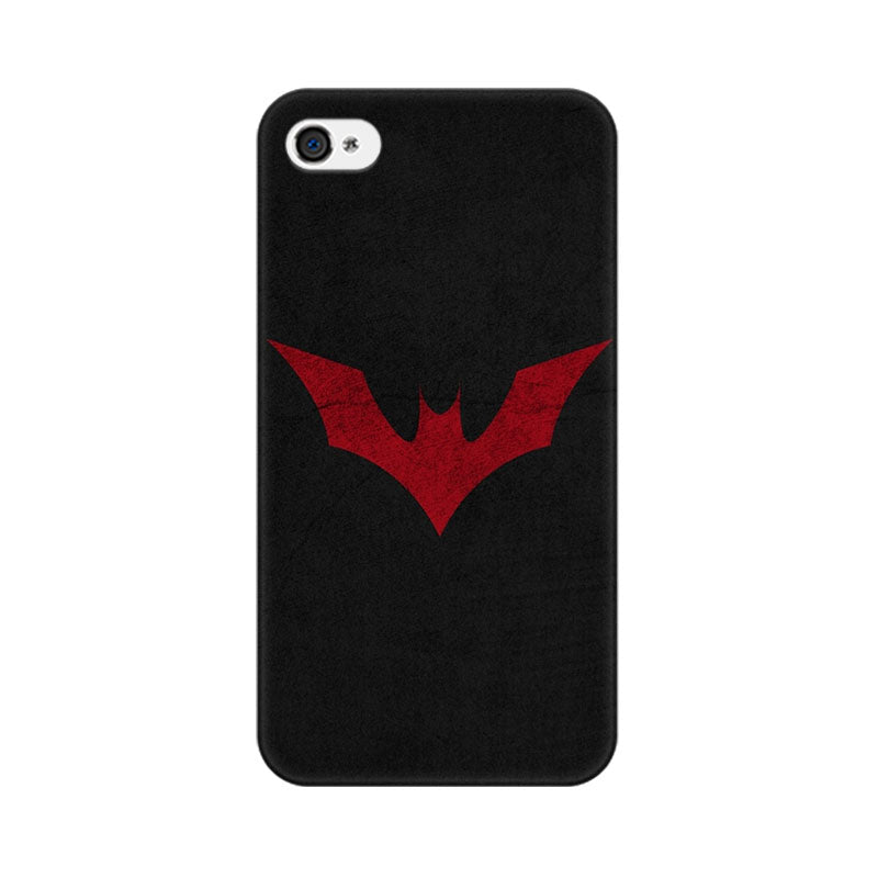 Apple iPhone 4 Batman Red Logo Phone Cover & Case
