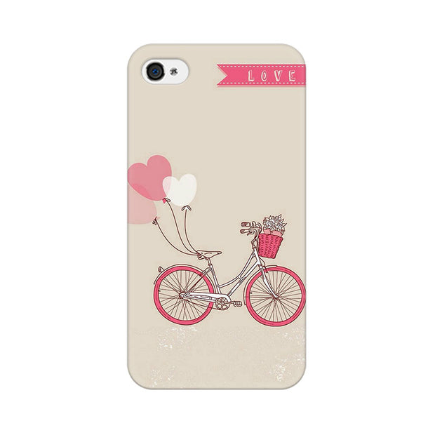 Apple iPhone 4 Bicycle Love Phone Cover & Case