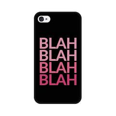 Apple iPhone 4 Blah Blah Pink Phone Cover & Case