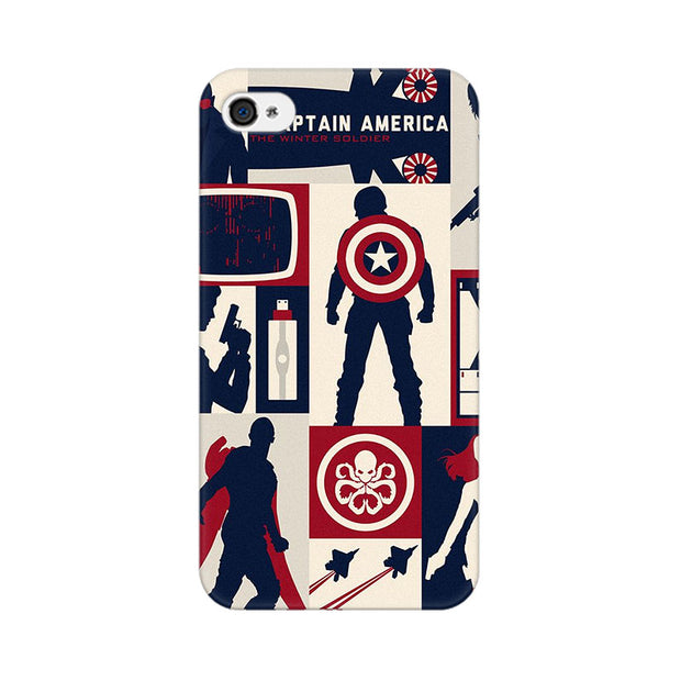Apple iPhone 4 Captain America Collage Phone Cover & Case