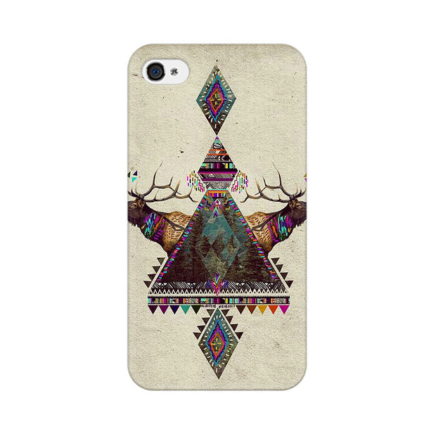 Apple iPhone 4 Deer Symmetry Phone Cover & Case