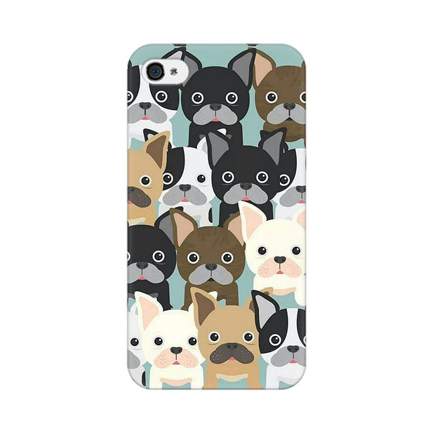 Apple iPhone 4 Dog Family Cluster Phone Cover & Case