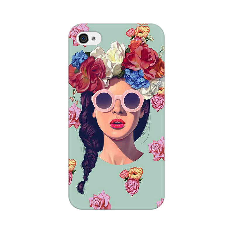 Apple iPhone 4 Floral Girl Phone Cover & Case