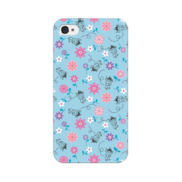 Apple iPhone 4 Floral Girly Wall Phone Cover & Case