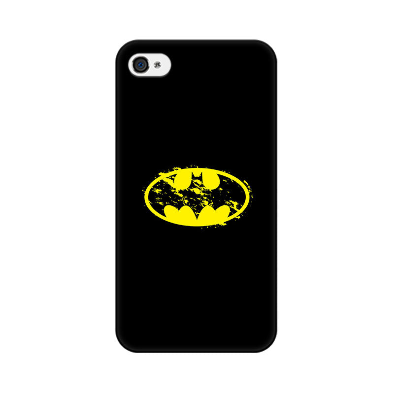 Apple iPhone 4 Flourished Yellow Batman Phone Cover & Case