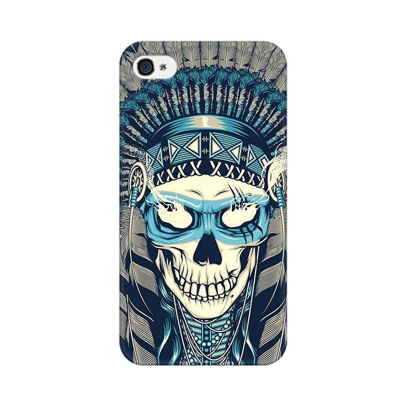 Apple iPhone 4 Indian Skull Phone Cover & Case