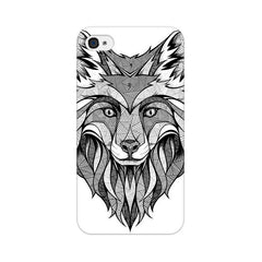 Apple iPhone 4 Line Art Wolf Phone Cover & Case