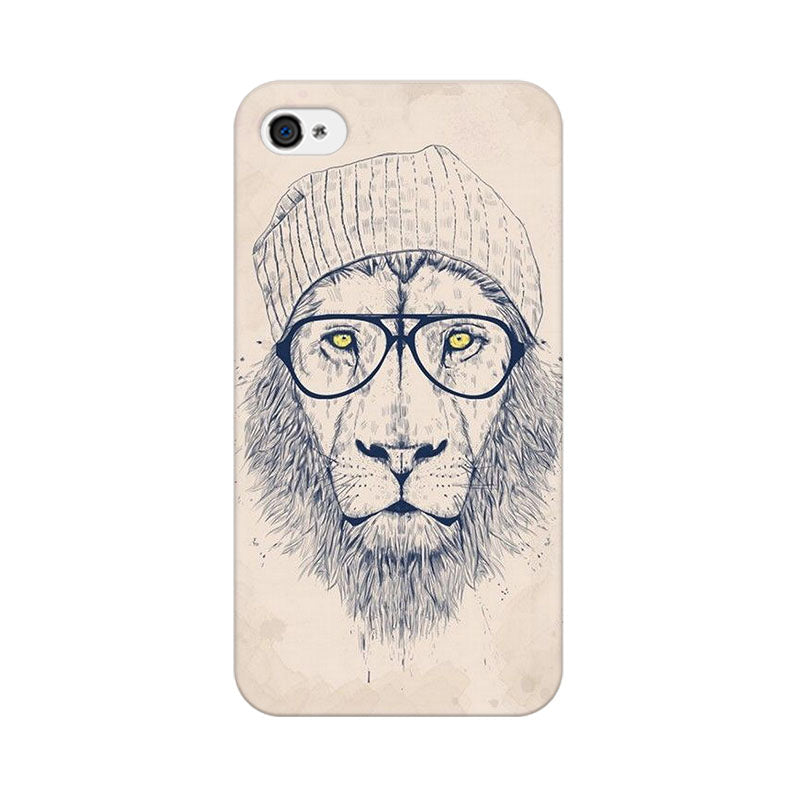 Apple iPhone 4 Lion With Glasses Phone Cover & Case