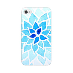 Apple iPhone 4 Lotus Blue Phone Cover & Case