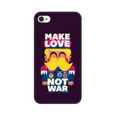 Apple iPhone 4 Make Love Not War Phone Cover & Case