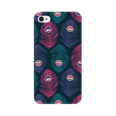 Apple iPhone 4 Peacock Fethers Phone Cover & Case