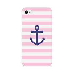 Apple iPhone 4 Pink Anchor Phone Cover & Case