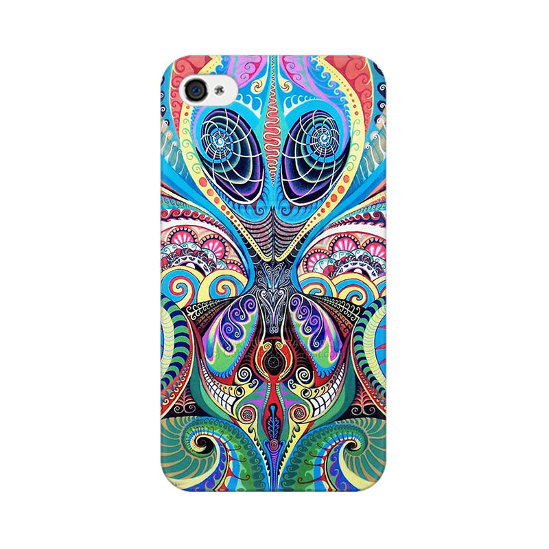 Apple iPhone 4 Psychedelic Alien Phone Cover & Case