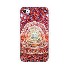 Apple iPhone 4 Psychedelic Faces On The Wall Phone Cover & Case