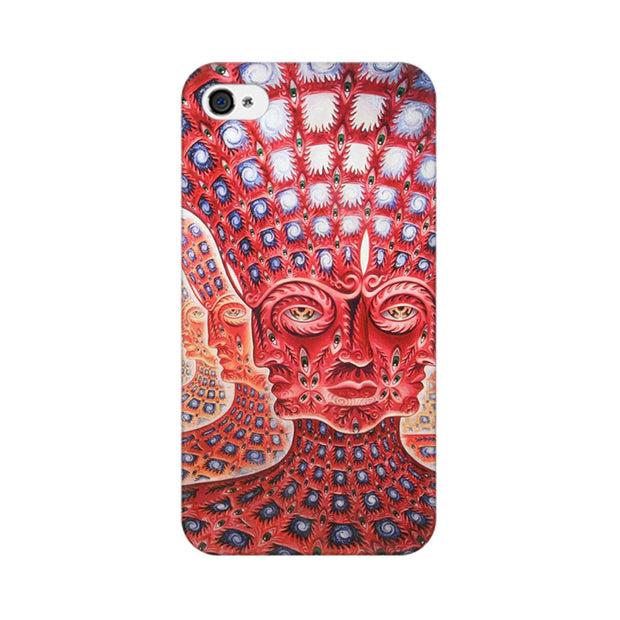 Apple iPhone 4 Psychedelic Faces Phone Cover & Case